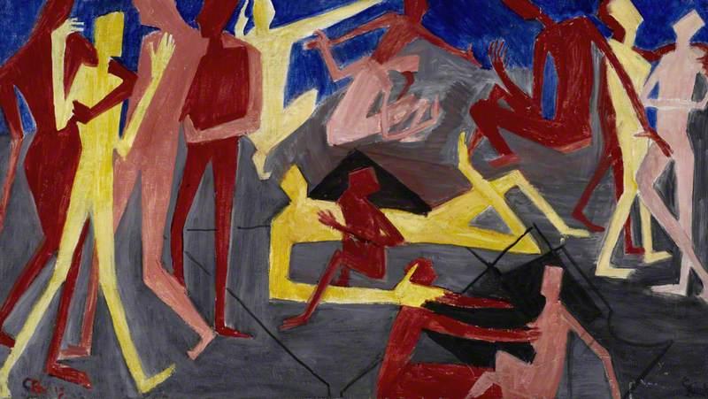 Untitled (Vorticist Figures)*