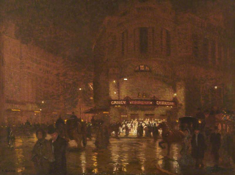 London, Wet Evening, Gaiety Theatre