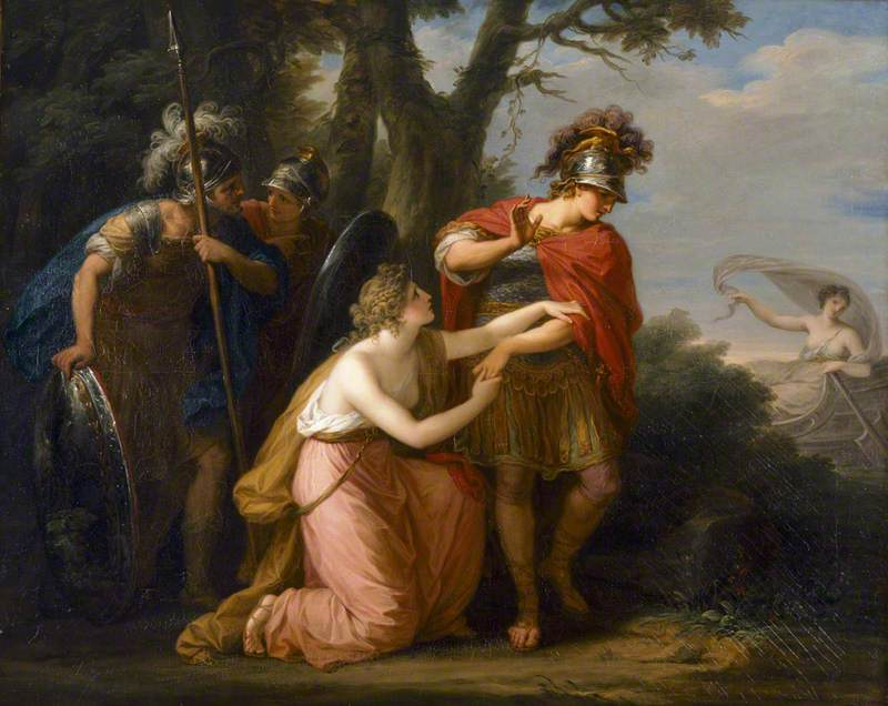 Armida in Vain Endeavours with Her Entreaties to Prevent Rinaldo's Departure