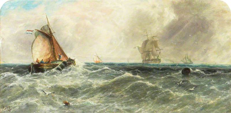 Wet and Squally Weather off Ramsgate, Kent: A Sea Piece