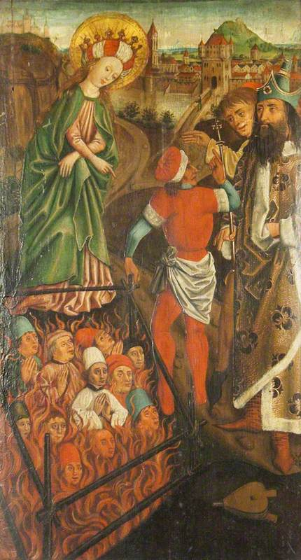 Virgin Mary Releasing a Soul from Purgatory at the Intercession of King David