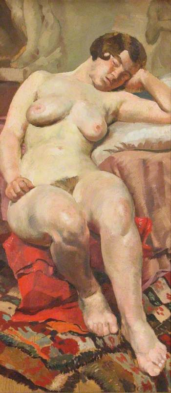 Study of a Nude Reclining
