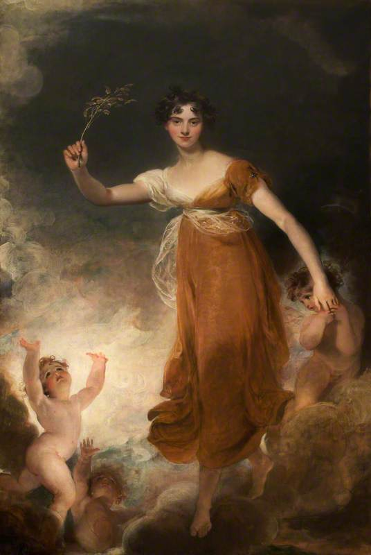 Georgiana Maria Leicester (1793–1859), Lady de Tabley, as 'Hope'
