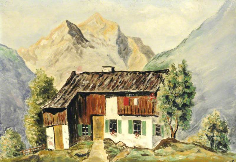 German Cottage in the Mountains