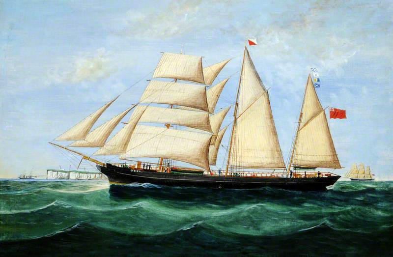Guernsey Registered Brigantine 'Obey', Built 1858 (Jersey)