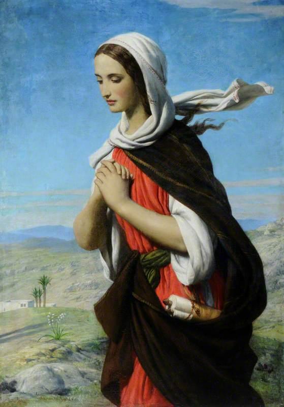 Biblical Female Figure in the Desert