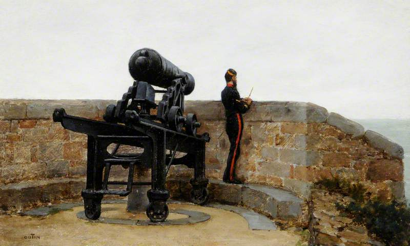 Carronade on the Ramparts of Fort Regent, St Helier, Jersey
