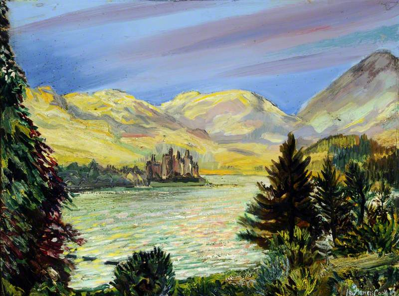 Castle Kilchurn and Loch Awe from the Loch Awe Hotel