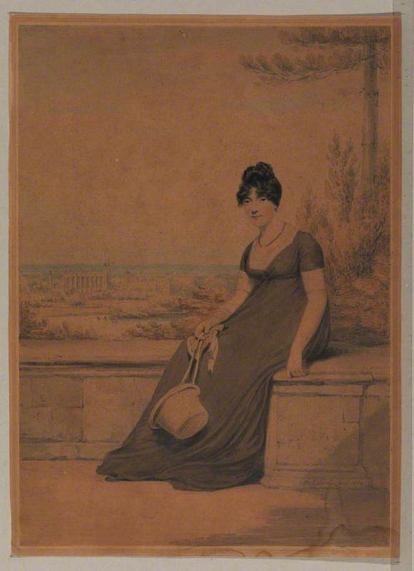 Portrait of a Lady Seated on the Terrace at Windsor Castle