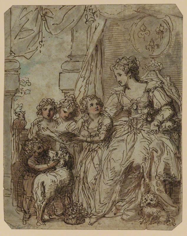 Portrait of a Woman and Her Four Daughters
