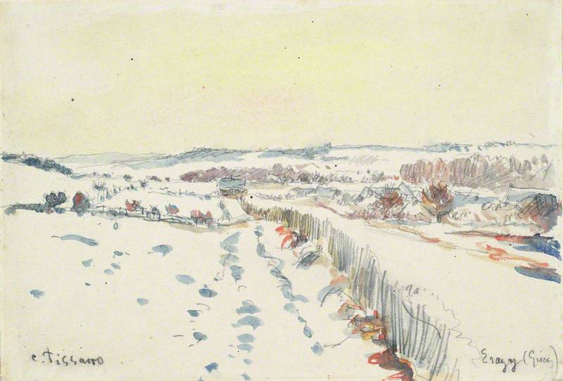 Eragny sous la neige
