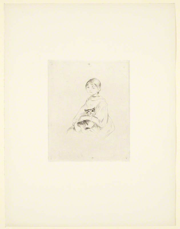 Fillette au chat (Girl with Cat)