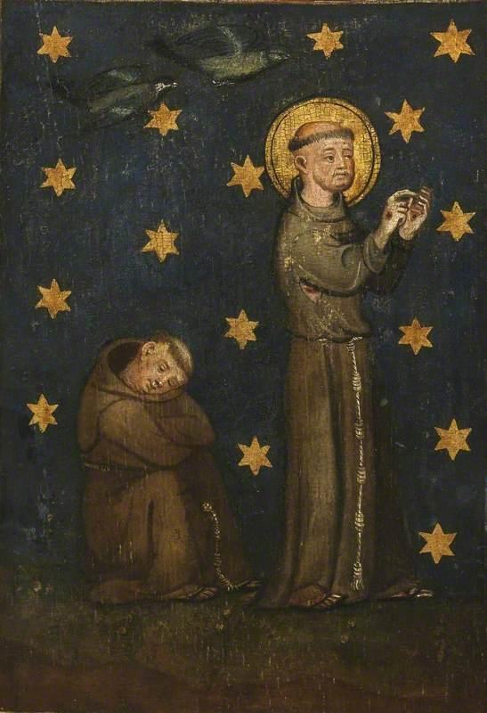 Crucifixion Triptych – Saint Francis Preaching