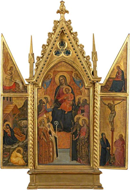 The Virgin and Child Enthroned with Eight Saints