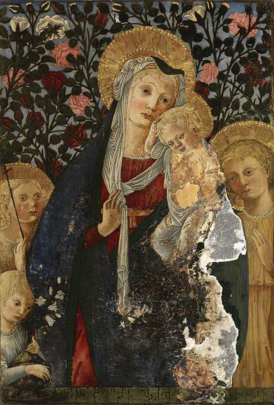 Virgin and Child with the Infant Saint John, Saint Elizabeth and a Child with a Vase of Lilies