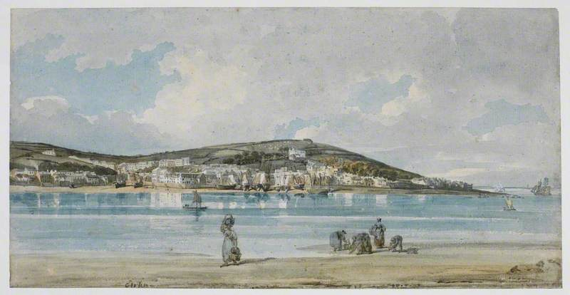 View of Appledore, North Devon, from Instow Sands