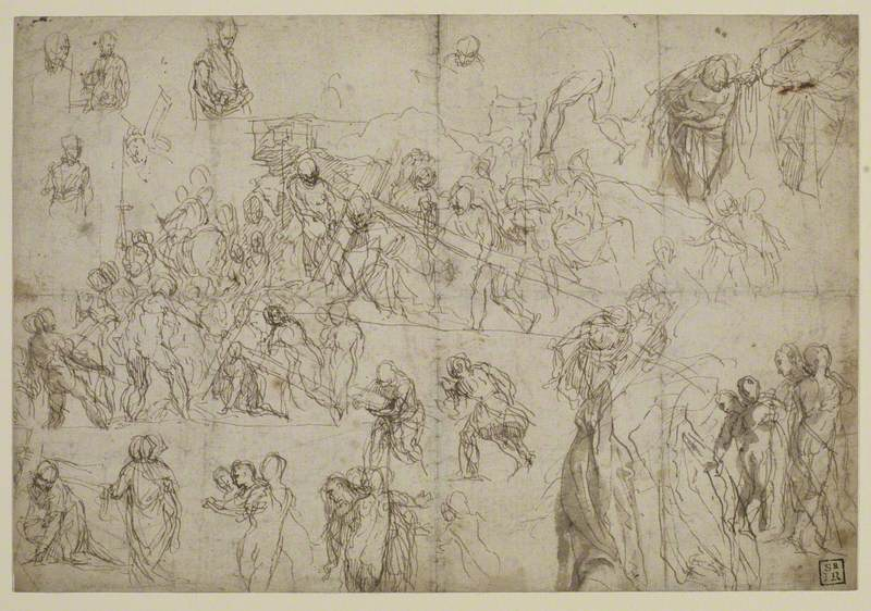 Studies for Christ Carrying the Cross