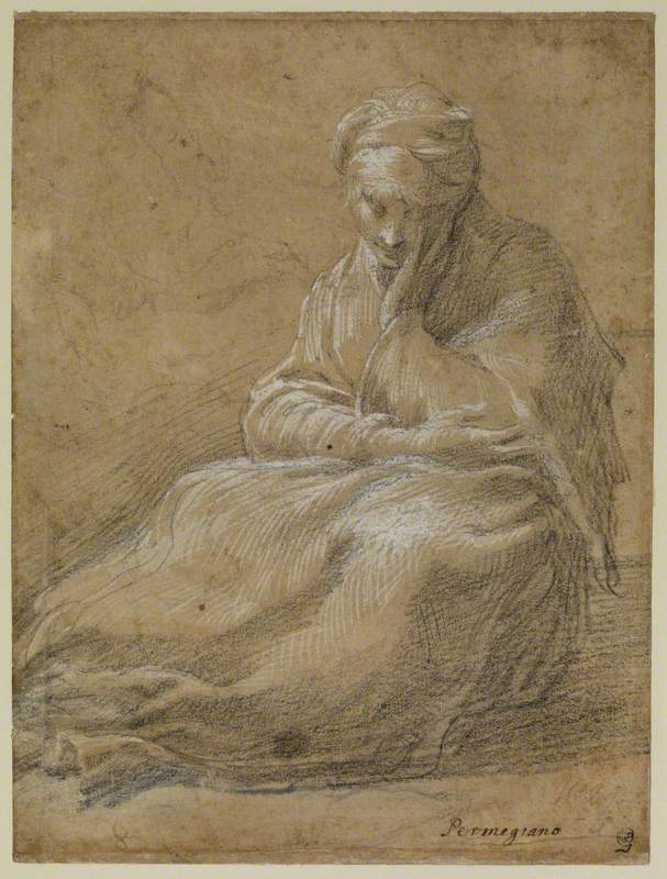 Woman Seated on the Ground