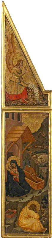 Nativity with Angel of the Annunciation