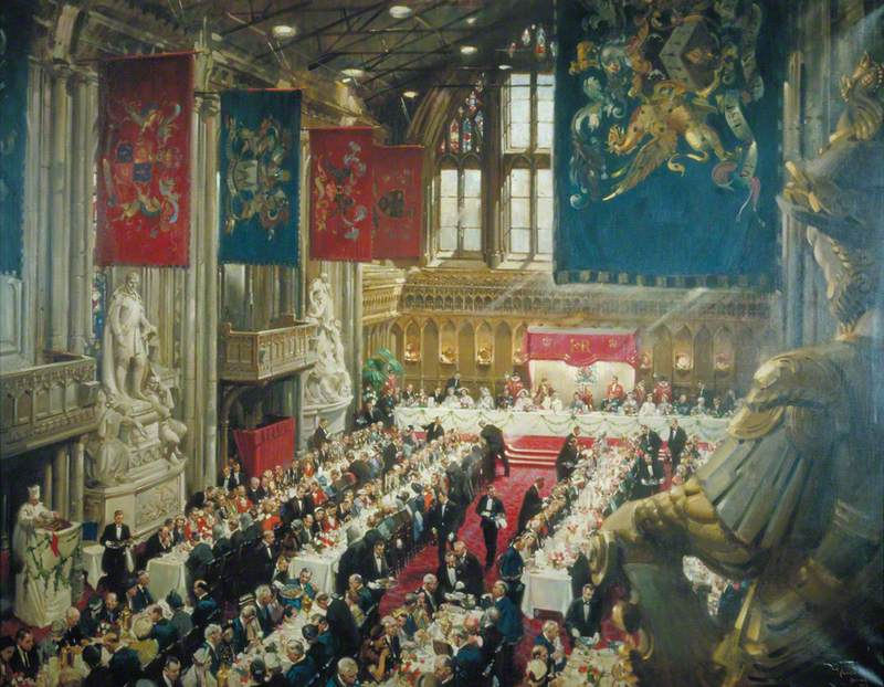 The Coronation Luncheon to Her Majesty Queen Elizabeth II in the Guildhall, London, 12 June 1953
