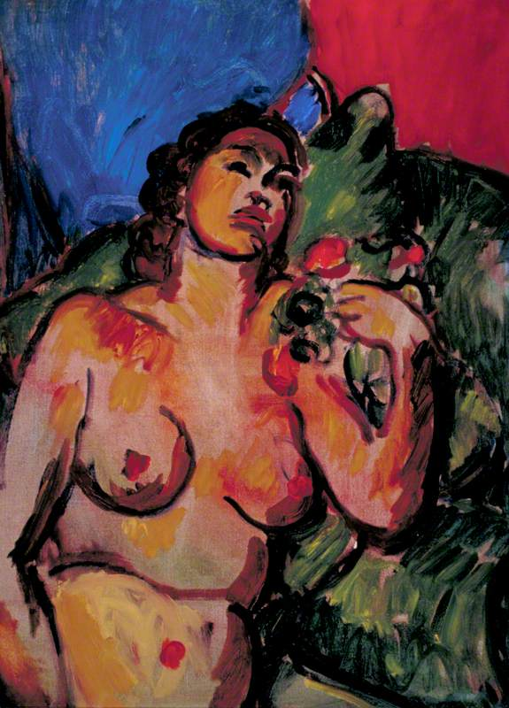 Nude, Hand to Shoulder