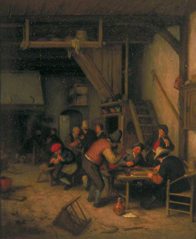 Tavern with Tric-Trac or Backgammon Players
