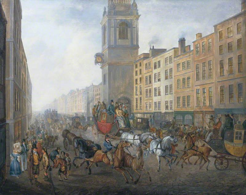 The London to Brighton Coach at Cheapside, London