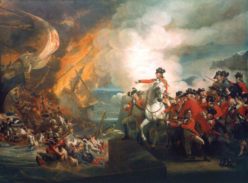 Defeat of the Floating Batteries at Gibraltar, September 1782 (The Siege of Gibraltar)
