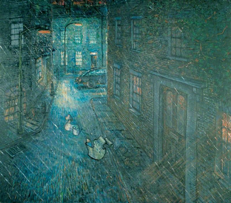 St Mary's Gardens, Lambeth, Night and the Rain