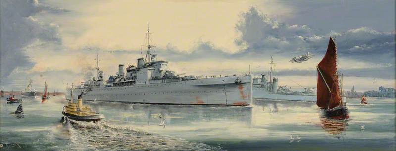 HMS 'London', Coming Home, 6 November 1945