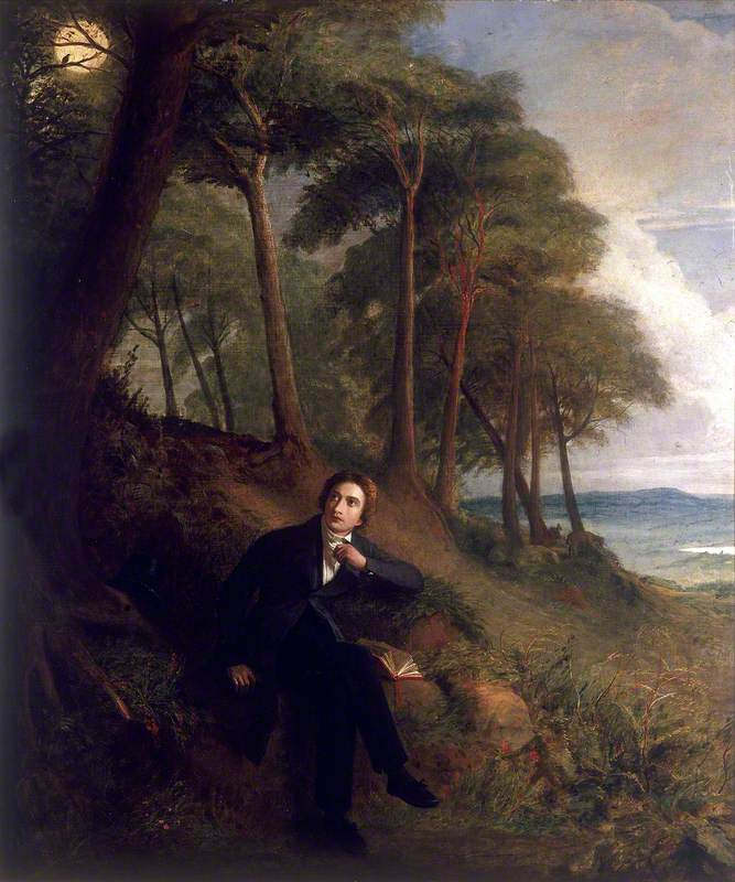Keats Listening to a Nightingale on Hampstead Heath