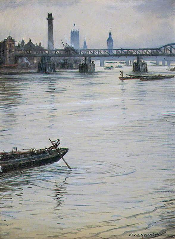 The Temporary Waterloo Bridge, London