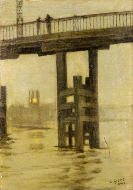 Battersea Bridge, Misty Moonlight