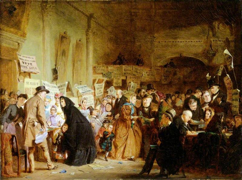 An Infant Orphan Election at the London Tavern 'Polling'