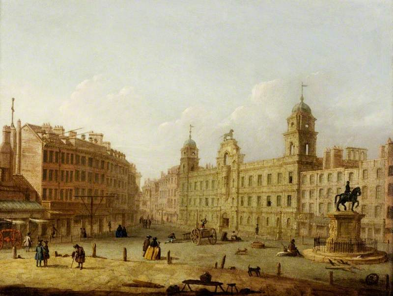 Charing Cross and Northumberland House from Spring Gardens, London