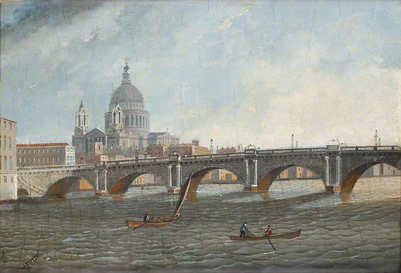 Blackfriars Bridge and St Paul's from the Bridge