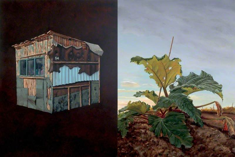 Shed 54 and Rhubarb Dyptich
