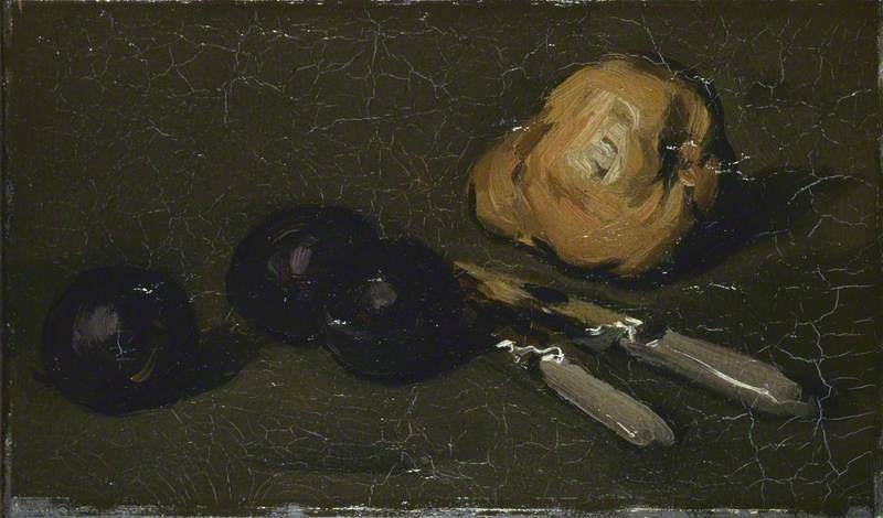 Pear, Plums and Knives