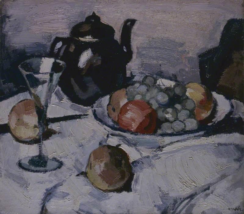 Still Life, Teapot and Fruit