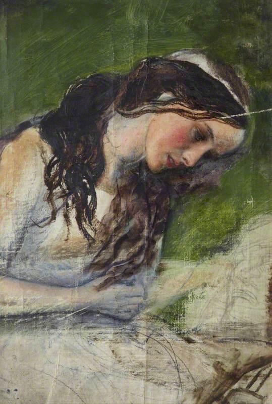 Study of a Head for 'La belle dame sans merci'