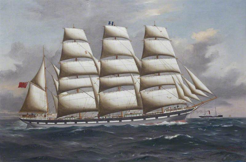 'Vimeria' under Full Sail