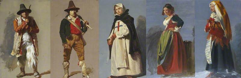 Five Studies of Italian Figures