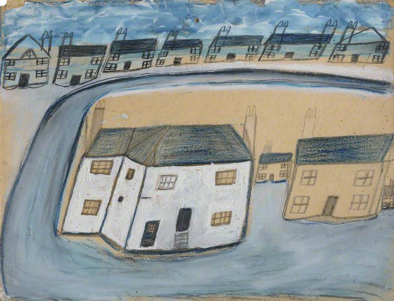 White House and Cottages, the Old House, Porthmeor Square, St Ives