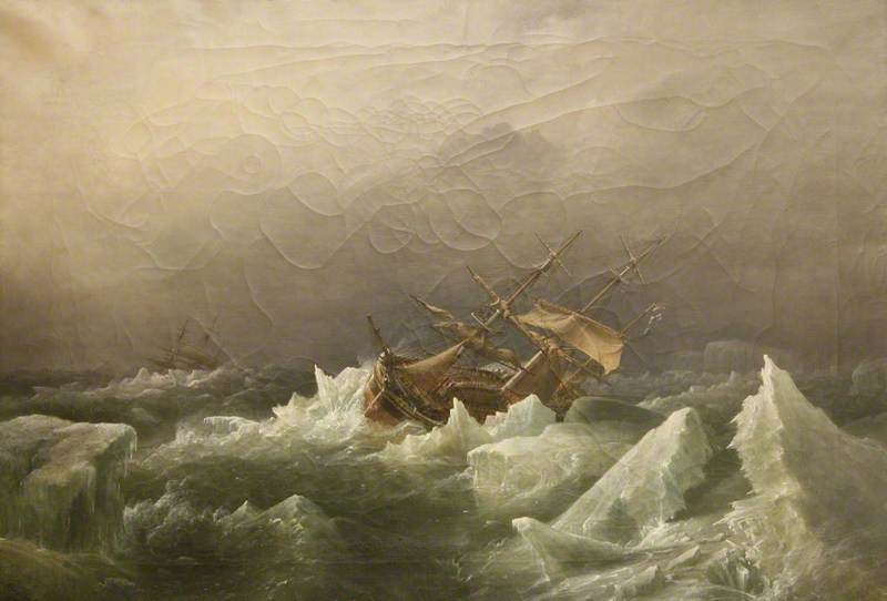 Antarctic Expedition: Gale in the Pack, 1842