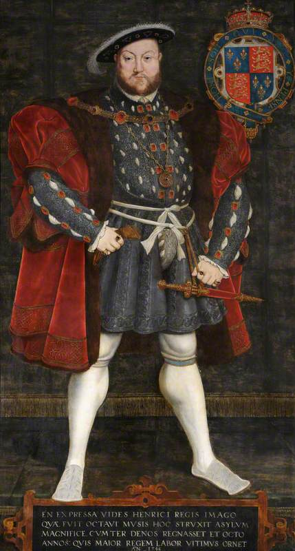 Henry VIII (1491–1547), Founder of Trinity College, Cambridge (1546)