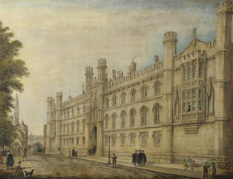 Corpus Christi College, Cambridge, from the Corner of Silver Street