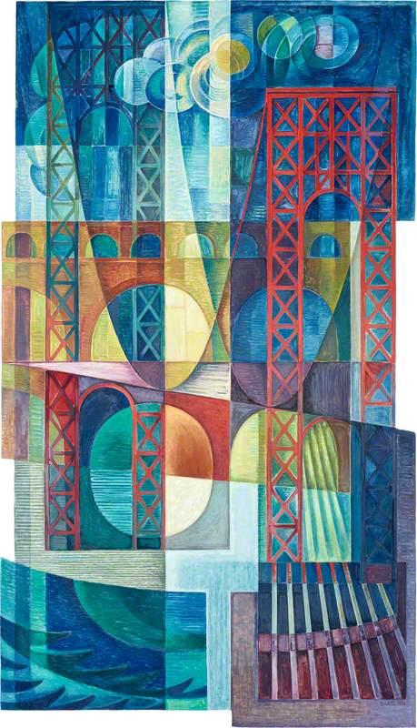 Suspension Bridge Mural*