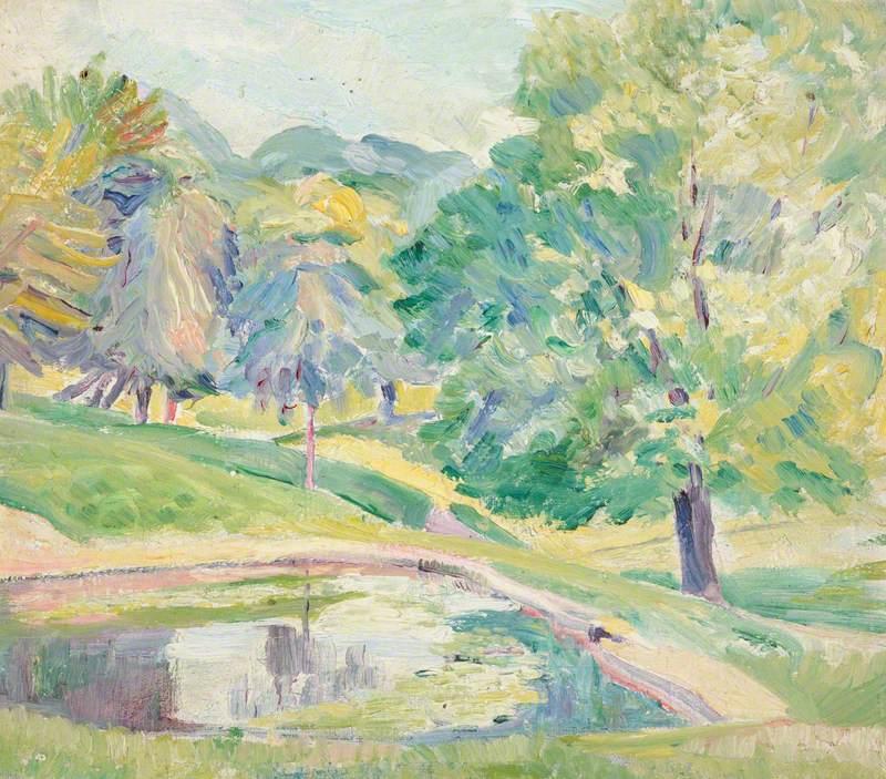 A Tree-Lined Pond, Hampstead Heath