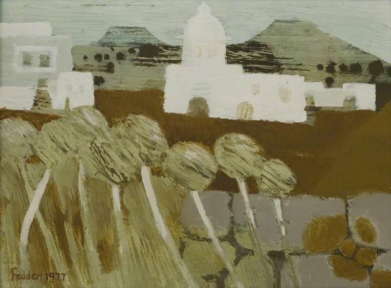 White Church in a Landscape