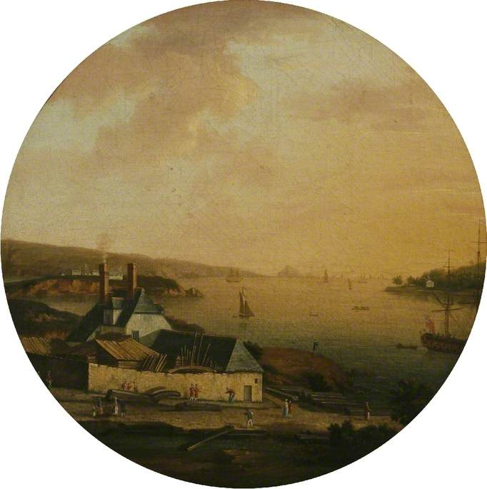 A View of the Dockyard, Cremyll
